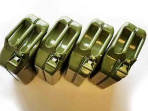 4 PACK – STEEL GREEN JERRYCANS