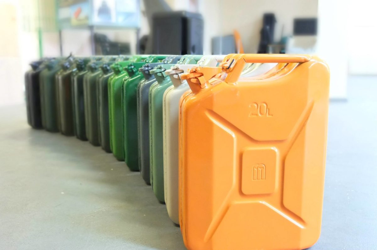 Multi Color Jerry Cans
